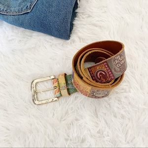 Fossil Printed Leather Belt Small